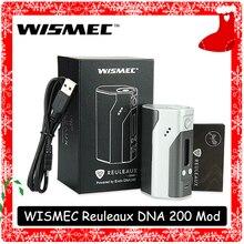 Wismec рел DNA200 контроль температуры мод 200 Вт Vape DNA чип мод TC/VW режимы нет 18650 батарея для RDA MTL RTA танк