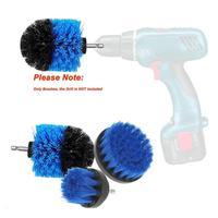 전동드릴 Furadeira Elétrica 3Pcs/Set Electric Drill Clean Brush Scrub Brush Powered Clean Tire Attachments 4