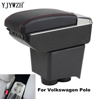 Für volkswagen armlehne polo armlehne box 2002 2009 zentralen inhalt Lagerung box USB Lade mit tasse halter aschenbecher zubehör-in Armlehnen aus Kraftfahrzeuge und Motorräder bei