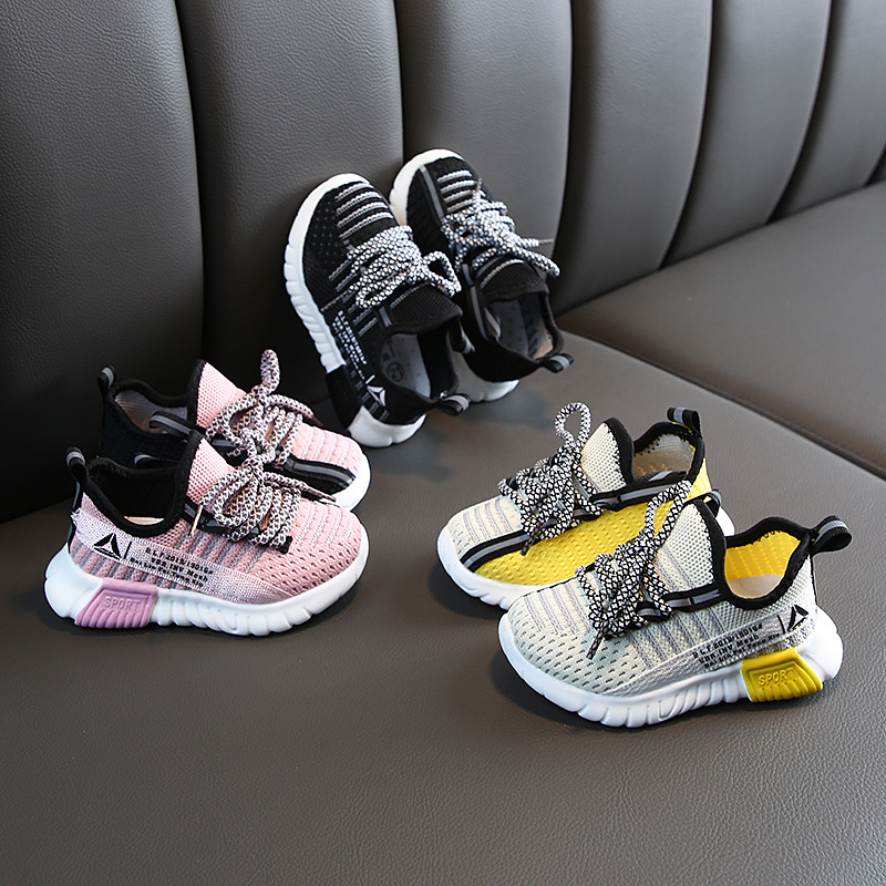 2019 New Toddler Shoes Girls Children White Shoes Fashion Kids Soft Bottom PU Leather Sport Running Sneakers For Baby Boys