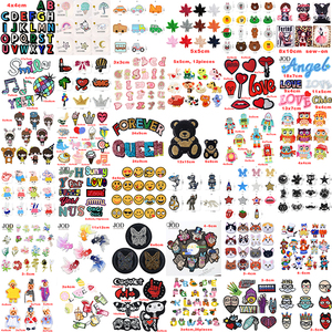 (46style) Mixed Embroidery Animal Sequin Patch Iron on Stripes for Clothing Children Accessories Applique Stickers Cloth Badges(China)
