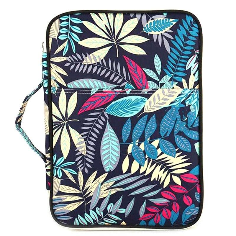 Dark Blue Folder Multifunction A4 Bag Storage Bag Portable Tablet File Product Waterproof Nylon Storage Bag File Notebook Pen Co