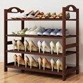 4 ~ 5 круглый Ланч-бокс бамбуковая подставка для обуви прочная Кофе Обувь синего цвета полка обеспечивает экономию места для хранения обуви ш...