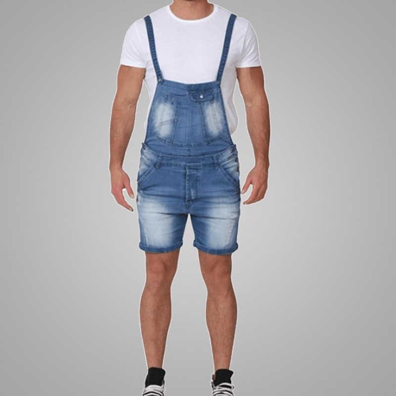 CYSINCOS 2019 мужские повседневные полиэстер Soild тонкий сиамский комбинезон брюки дышащие размер плюс 2XL Мужские Винтажные короткие джинсы