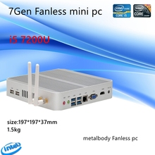 7th Gen Intel Kaby See Core i5 7200U Mini PC Windows 10 HDMI + VGA Kommerziellen pc minipc 4K HTPC intel HD Graphics 620 Fanless PC