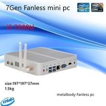 7th gen intel kaby lake core i5 7200u mini pc windows 10 hdmi + vga comercial minipc 4 k htpc intel hd gráficos 620 fanless pc
