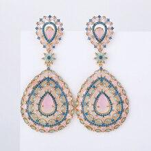 中空水滴の形のイヤリングファッション女性の結婚式やパーティー 925 ジュエリーシルバーピン AAA CZ 石手作り XIUMEIYIZU ブランド
