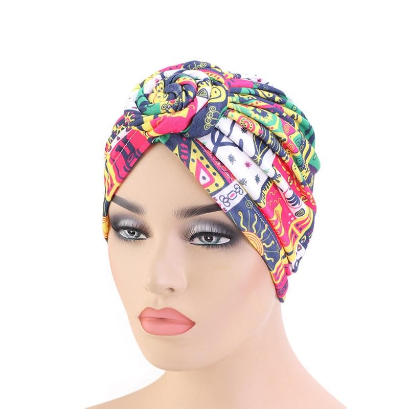 2020 New Fashion Print Women Muslim Turban Hijab Caps Arab Wrap Inner Hijabs For Ladies Islamic Head Scarf Hidjab Bonnet