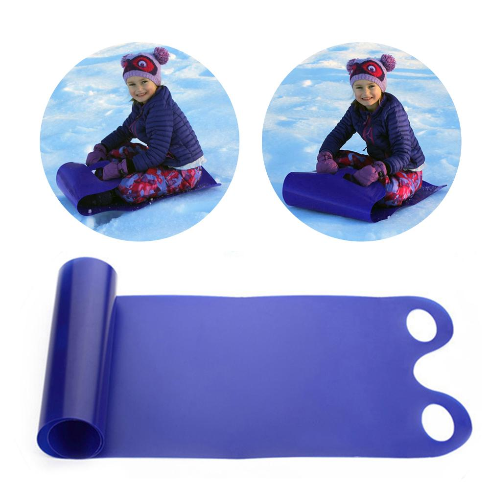Outdoor Winter Multifunctional Hollow Handle Reel Freestyle Veneer Directional Ski HDPE Portable Roll Up Sled Children's Ski Gea
