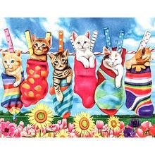 Diy картина по номерам Животные Кот Раскраска с изображением