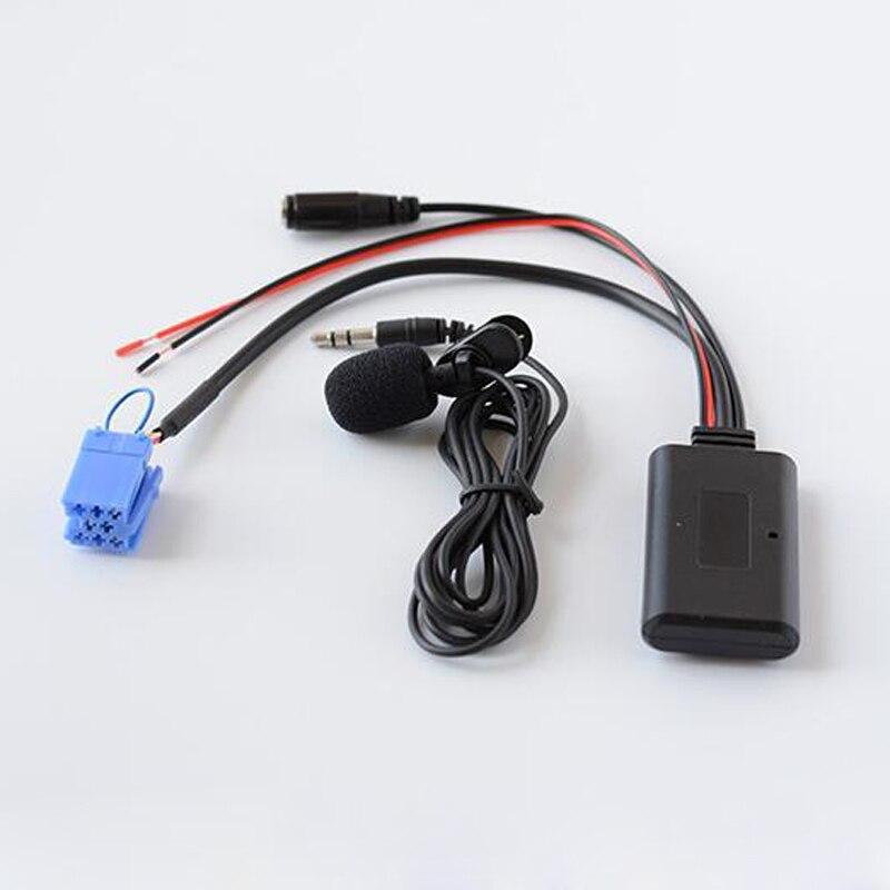 Беспроводной аудиокабель Biurlink с Bluetooth, AUX-входом, микрофон, бесплатный вызов, адаптер ISO 8Pin для Smart Fortwo 450, радио, MP3, дополнительный