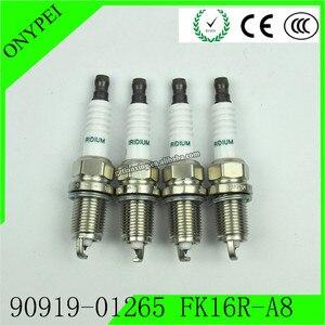 Image 1 - 4 Pcs 90919 01265 FK16R A8 3485 Dual Iridium Spark PlugสำหรับToyota Prius C 1.5L 12 19 9091901265 FK16RA8 90919 01265 FK16R A8