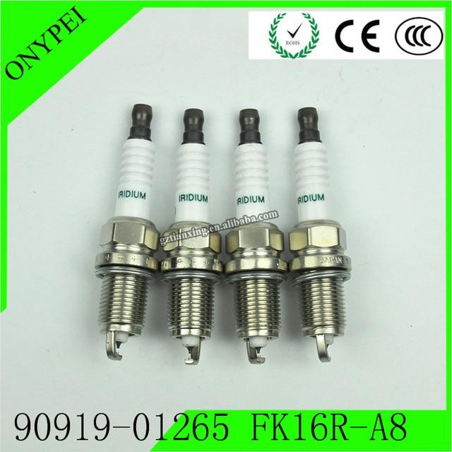 4 Pcs 90919 01265 FK16R A8 3485 Dual Iridium Spark PlugสำหรับToyota Prius C 1.5L 12 19 9091901265 FK16RA8 90919 01265 FK16R A8