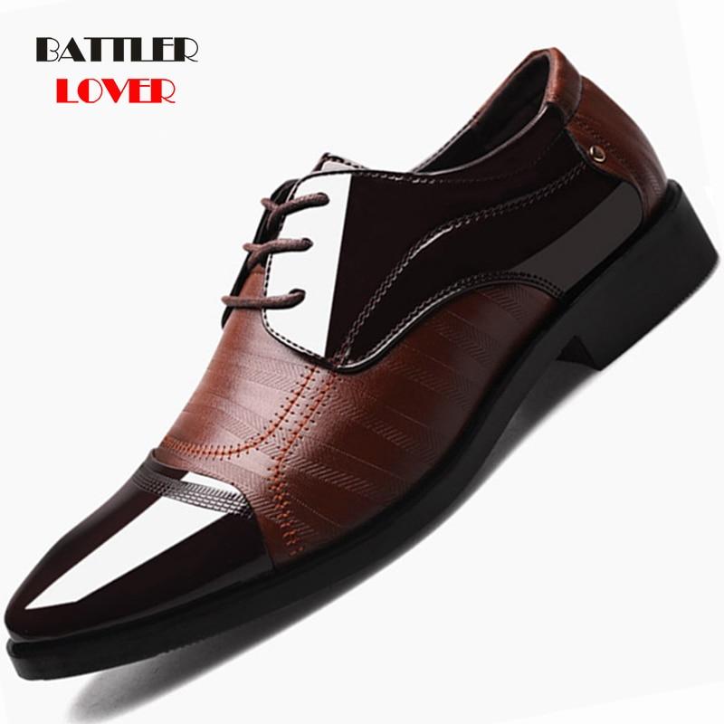 2019 Formal Shoes Men Patent Leather Shoe Men Dress Shoes Men