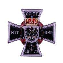 Insignia de la Cruz de Alemania, medalla de orden Prusia, GOTT MIT UNS 1870