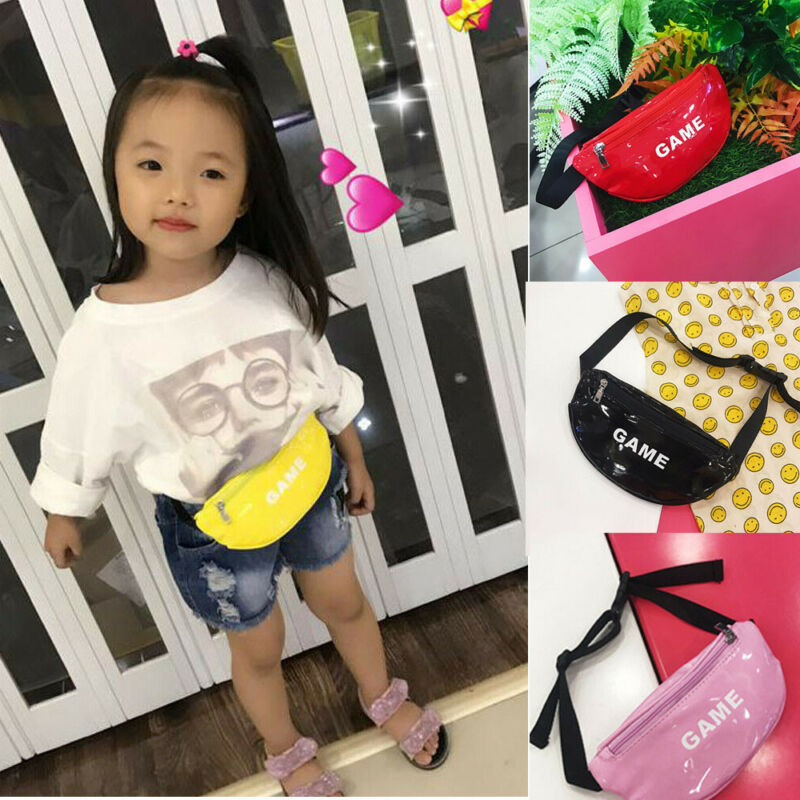 2019 Newest Hot Toddler Baby Girls Kids GAME Printed Waist Bag Pack Outdoor Sports Pouch Belt Hip Chest Crossbody Travel Purse