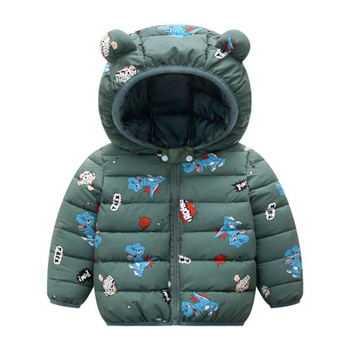 LZH 2020 Autumn Winter Newborn Baby Clothes For Baby Boys Jacket Baby Dinosaur Print Outerwear Coat For Infant Baby Girls Jacket 19