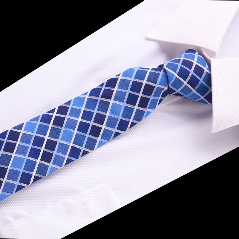 Luxury Cotton 6.5cm Men's Colourful Tie Necktie  Slim Skinny Woven Cravate Narrow Neckties Wedding Party Formal Accessries