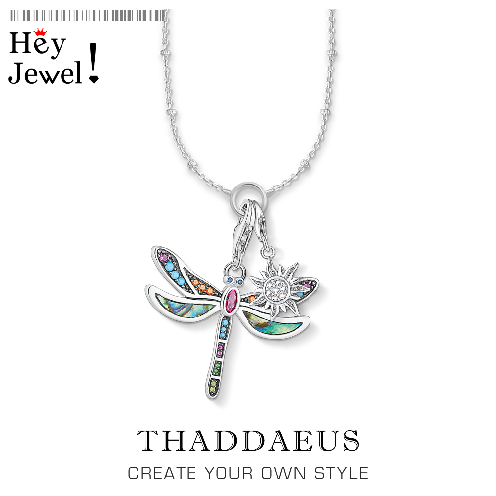 Charm Necklace Dragonfly & Sun,2019 Winter New Ts Fashion Bohemia Jewelry Thomas 925 Sterling Silver Bijoux Gift For Women Girl