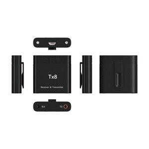 Image 4 - DISOUR TX8 5.0 Bluetooth alıcısı verici ses kontrol düğmesi ile 2 in 1 ses kablosuz adaptör için 3.5MM AUX araba TV PC