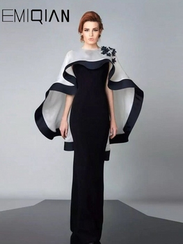 vestidos Mermaid Evening Dress Sleeveless Party Long Formal with Cape Robe De Soiree - discount item  50% OFF Special Occasion Dresses