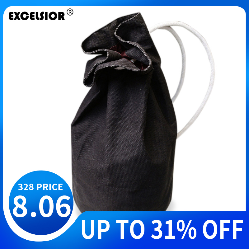 EXCELSIOR Fashion Backpacks Women Original Design Canvas Drawstring Bag Women Man Backpack Canvas Shoulder Bags Mochila Feminina