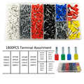 1800PCS tube crimping terminals electrical cable wire connector lnsulating terminator box set suit 0.5-10mm2 AWG22-7