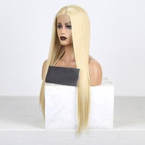Image 4 - Charisma Synthetische Lace Front Pruiken Blonde Pruik Lange Rechte Haar Met Natuurlijke Haarlijn Lace Front Pruik Vrouwen Pruik Kant Deel