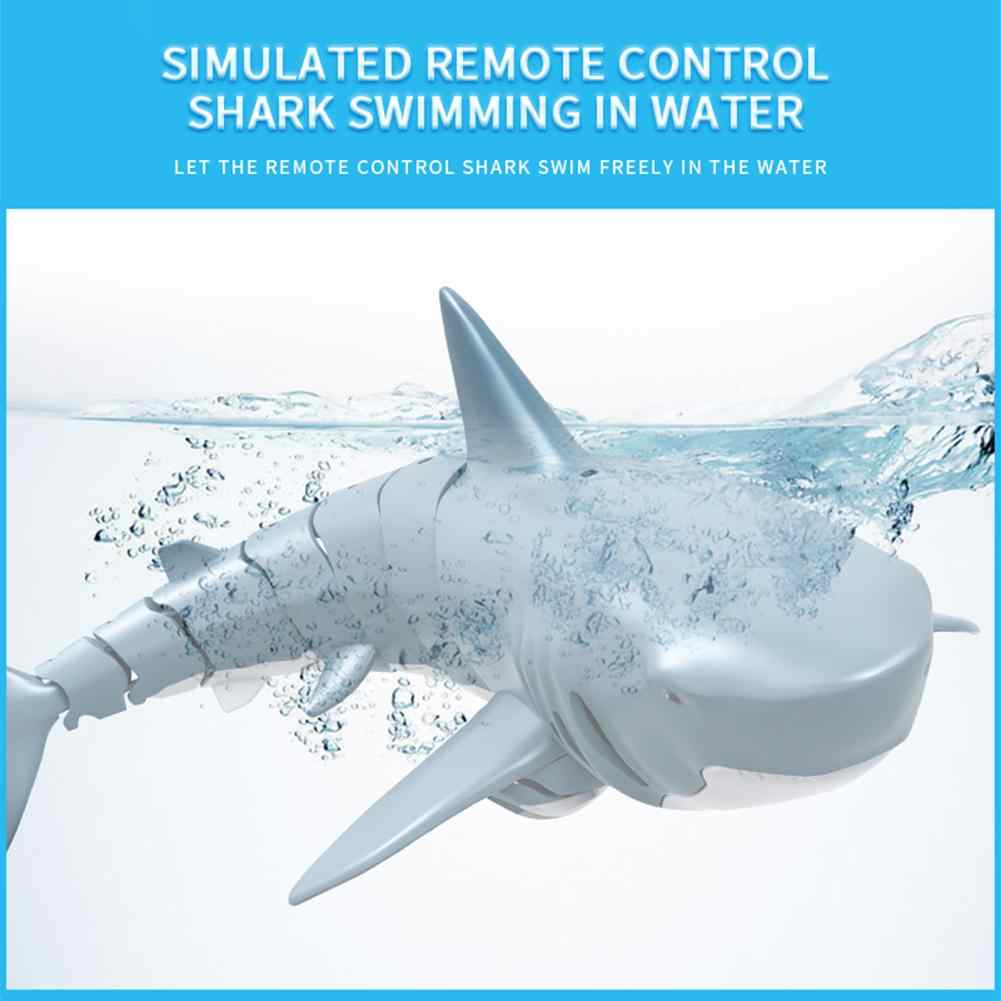 Pilot rekin zabawki 2.4G zdalnie sterowana imitacja rekina łódź woda pływanie ryby RC zabawka w kształcie zwierzątka huśtawka fiexifly Shark basen