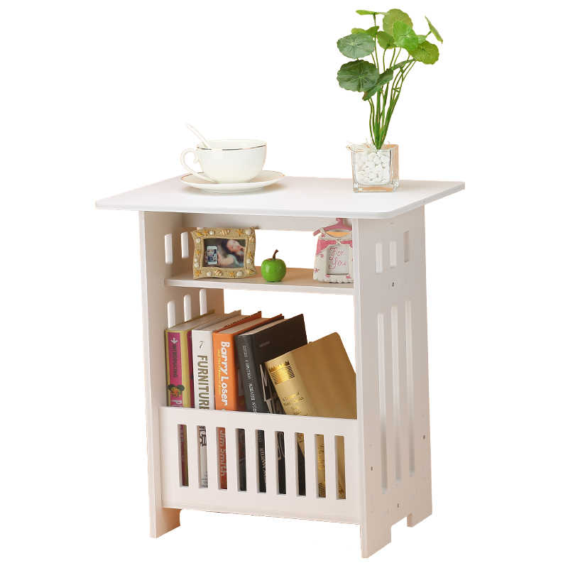 방 침대 옆 커피 테이블 침실 머리맡의 발코니 잡지 커피 테이블 정원 작은 사각형 테이블 편리한 컴퓨터 책상