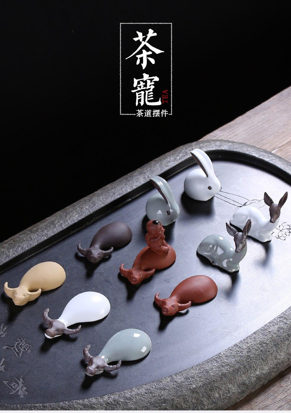 Глина xiang niu чайные украшения напрямую от производителя распродажа керамическая чайная церемония Zero с поколение жира креативная ручная работа T