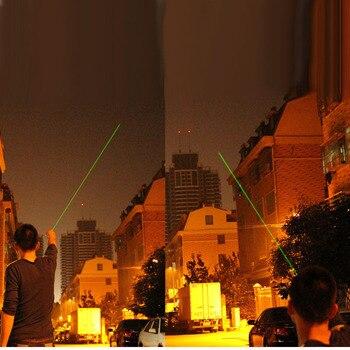 Охотничий 10000 м 532нм зеленый лазерный прицел лазерная указка Высокая мощная Регулируемая фокусировка лазер с лазером 303 + зарядное устройств...