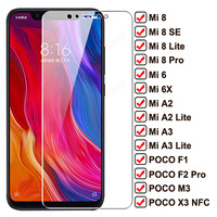 Protector de cristal templado 100D para pantalla de móvil, película protectora NFC para Xiaomi Mi 8 SE A2 A3 Lite 6 6X, POCO F1 F2 Pro M3 X3