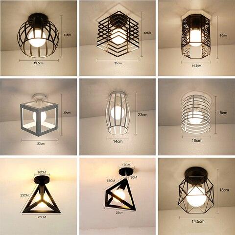 luzes de teto led moderno plafondlamp casa iluminacao sala estar gaiola do vintage lampada do