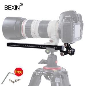 Image 3 - Long RRS ARCA SWISS camera tripod Quick Release Plate telephoto Lens Bracket support holder for Long Nodal Slide Rail Adapter