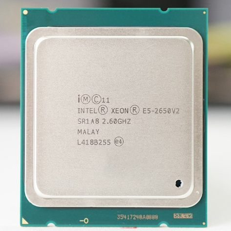 Intel Xeon E5 2650 V2 LGA 2011 CPU Processor 8 CORE 2.6GHz 20M 95W SR1A8 E5 2650V2 support X79 motherboard 1