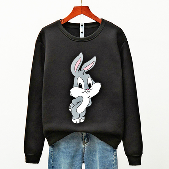 Hot Hit Winter Print Rabbit & Mouse 15 Colors S-3XL Oversize Harajuku Hoodies Women Long Sleeve Casual Couple Sweatshirts Autumn