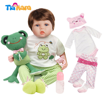 Tianara 55cm Cute Bebe Dolls Reborn Baby Toys for Girls Boys Special Birthday Gifts Lifelike Vinyl Silicone Doll Cartoon Outfits 15inch lifelike reborn baby dolls toys handmade silicone vinyl pretend play toy doll for girls kids children birthday gifts 38cm