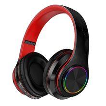 Bluetooth fones de ouvido sem fio portátil dobrável fone de ouvido suporte chamada mp3 player com microfone led luzes coloridas
