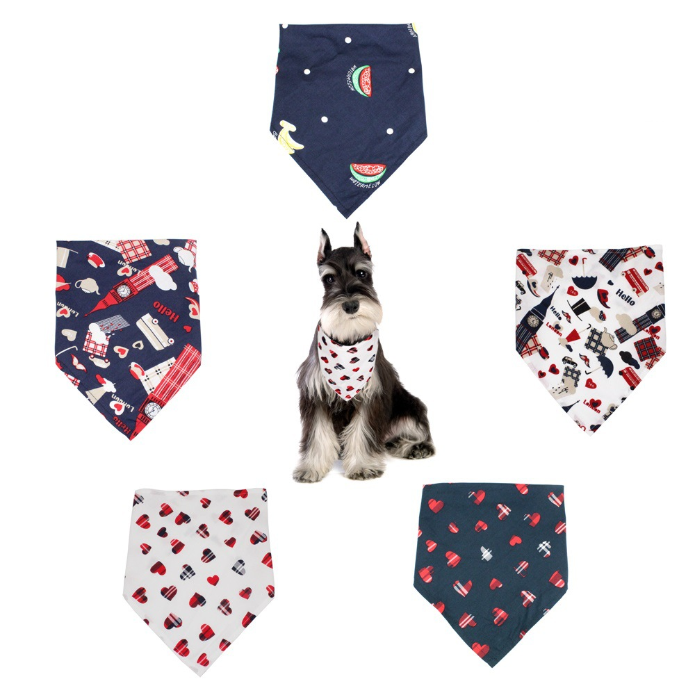 Pet Triangular Scarf Dog Scarf England Style Style Small And Medium-sized Dogs Bibs Neckerchief Pet Scarf