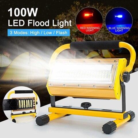 100 w projector led holofotes ao ar