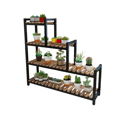 Rack Multi-storey Province Space Balcony Meat Rack Small Flower Rack Bay Window Originality Flower Rack Iron Art Multi-storey