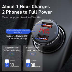 Image 2 - Baseus 45w carga rápida 4.0 carregador de carro usb para samsung xiaomi 10 qc 4.0 3.0 pd 3.0 carregamento rápido do carro para o telefone carregador de carro