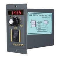 AC 220V 50Hz Motor Speed Controller 400W Digital Einstellbar Stufenlose Plc Motor Speed Controller 0-1450rpm Geschwindigkeit Regler