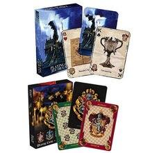 Hary, jogo cartas, casa, potters, coleção, emblemas, castelo, crestas, 2 padrões, inglês, logotipo mágico, brinquedo infantil