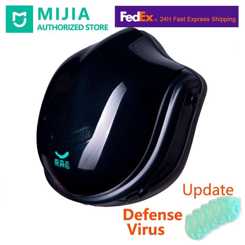 2020 Stock Xiaomi Mi Q5PRO 5V USB Electric Masks- Anti-haze Sterilizing Provides Active Air Breath Valve HEPA Filter Face Cover