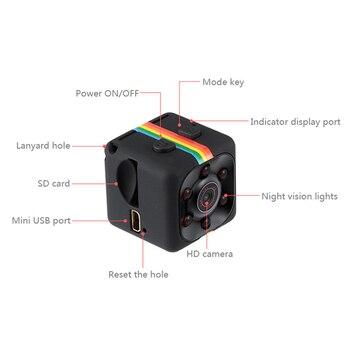 2018 SQ11 Mini cámara HD 1080P visión nocturna Mini videocámara acción cámara DV Video y sonido grabador Micro cámaras