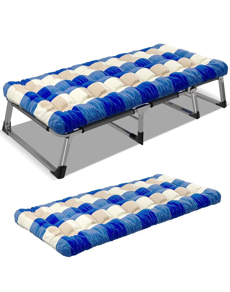 Lit pliant coton coussin bureau déjeuner lit lit simple Siesta lit d'accompagnement inclinable matelas assorti chaises