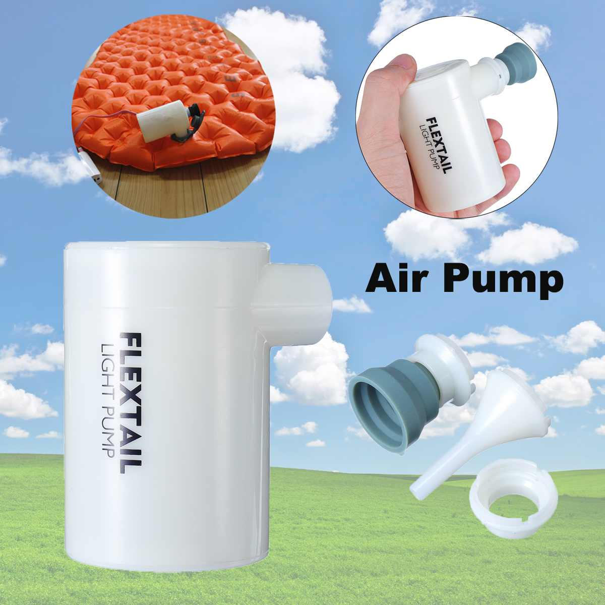USB Electric Air Pump Outdoor Camping Inflate Deflate Pump Mini Ultralight Portable Swimming Pool Air Bed Mattress Boat Air Pump