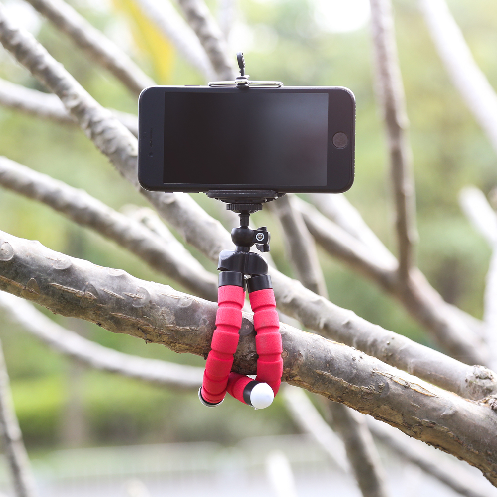 Adjustable Cell Mobile Phone Stand Holder Desk Tripod Cute Desktop For Iphone 8 Video Flexible Sponge Octopus Mini Camera Tripod (12)